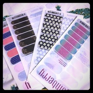 Jamberry nail wraps! 4 complete sheets+ more NWT